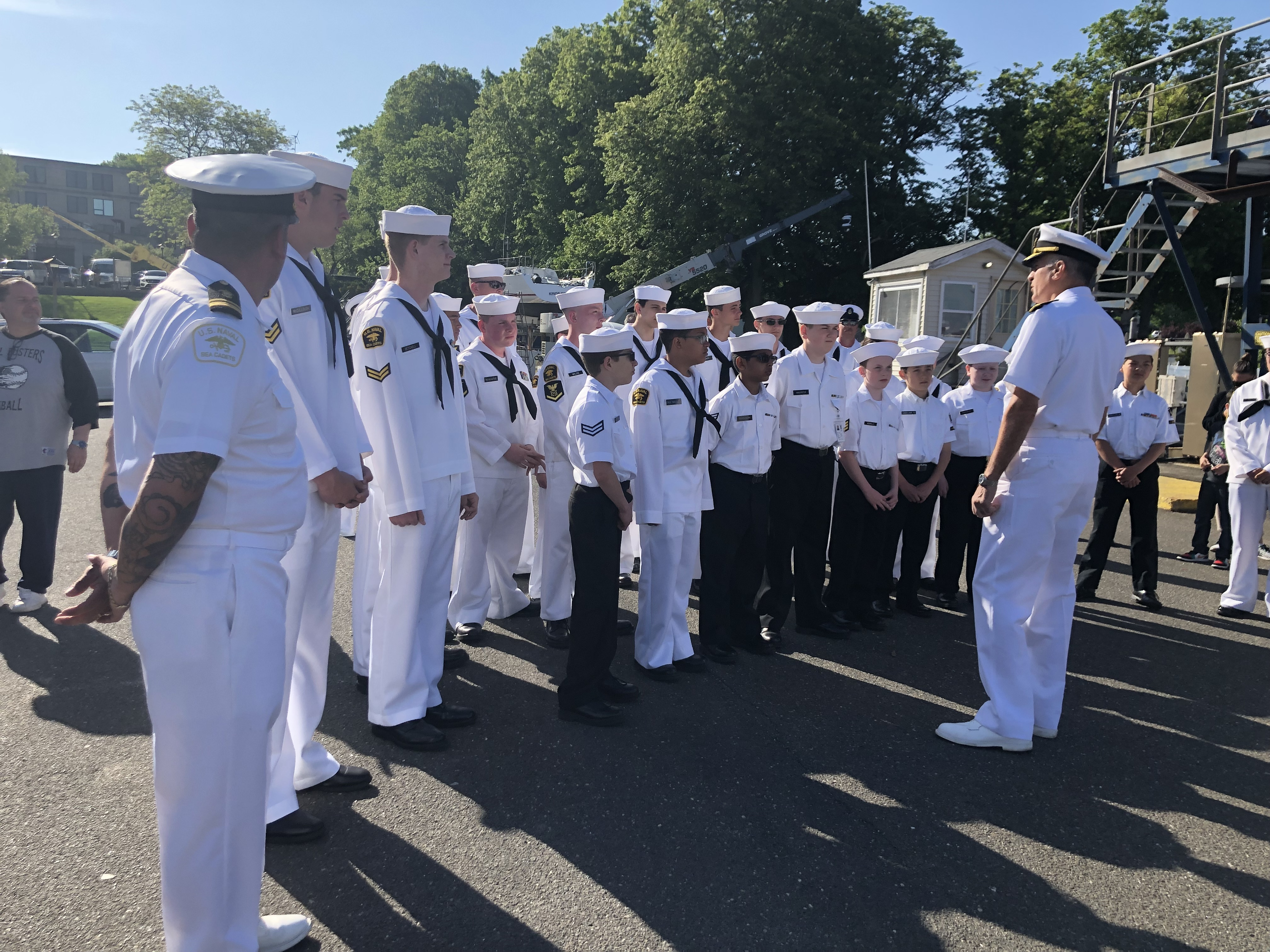 The NYPD Explorers learn about Navy careers
