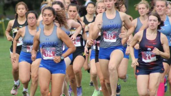 Women's cross-country competing.